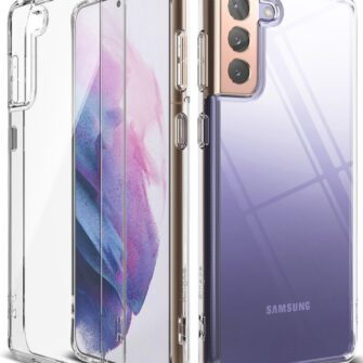 Samsung Galaxy S21 Ringke Fusion umbris plastikust taguse ja silikoonist raamiga labipaistev FSSG0090 1