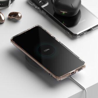 Samsung Galaxy S21 Ringke Fusion umbris plastikust taguse ja silikoonist raamiga labipaistev FSSG0090 3