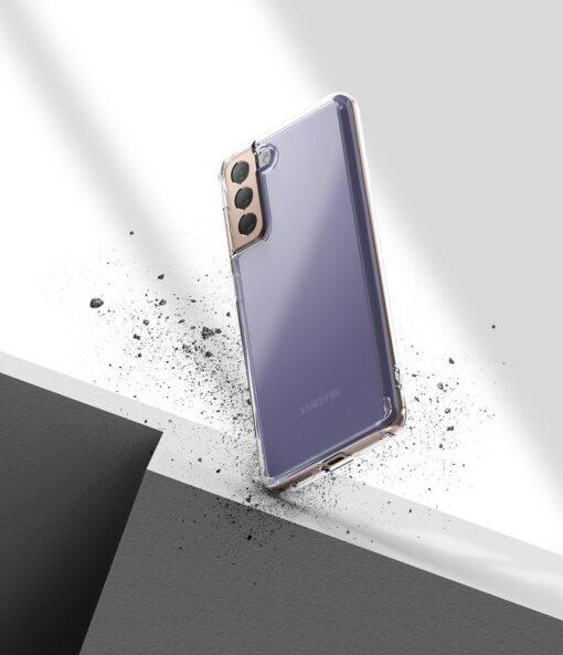 Samsung Galaxy S21 Ringke Fusion umbris plastikust taguse ja silikoonist raamiga labipaistev FSSG0090 4