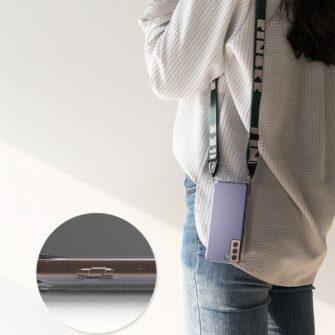Samsung Galaxy S21 Ringke Fusion umbris plastikust taguse ja silikoonist raamiga labipaistev FSSG0090 5