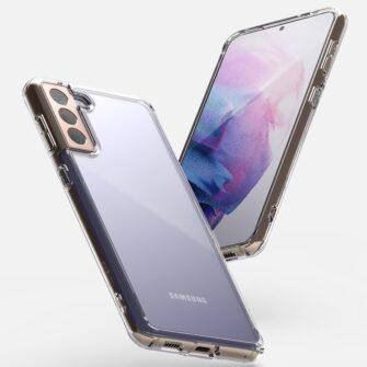 Samsung Galaxy S21 Ringke Fusion umbris plastikust taguse ja silikoonist raamiga labipaistev FSSG0090 6