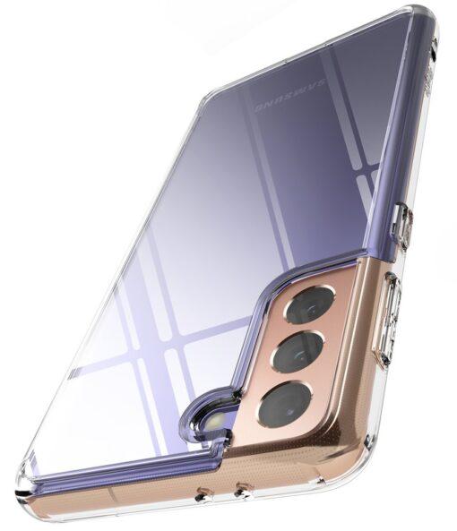 Samsung Galaxy S21 Ringke Fusion umbris plastikust taguse ja silikoonist raamiga labipaistev FSSG0090 7