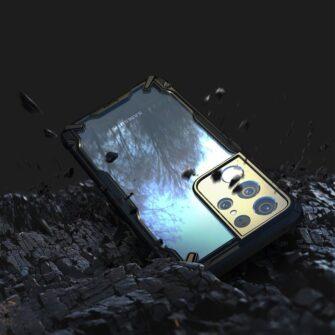 Samsung Galaxy S21 Ultra Ringke Fusion X tugev umbris plastikust taguse ja silikoonist raamiga must FUSG0068 4