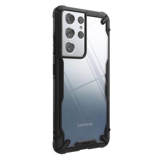 Samsung Galaxy S21 Ultra Ringke Fusion X tugev umbris plastikust taguse ja silikoonist raamiga must FUSG0068 7