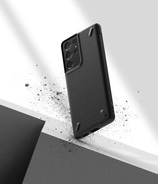 Samsung Galaxy S21 Ultra Ringke Onyx tugev umbris silikoonist must OXSG0027 3