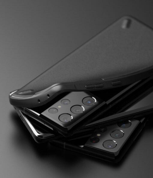 Samsung Galaxy S21 Ultra Ringke Onyx tugev umbris silikoonist must OXSG0027 4