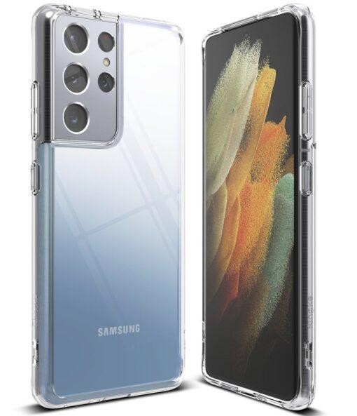 Samsung S21 Ultra silikoonist umbri labipaistev Ringke 2