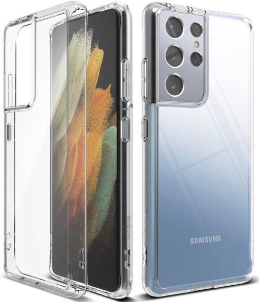 Samsung S21 Ultra silikoonist umbri labipaistev Ringke 3