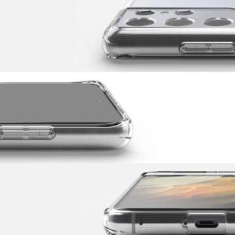 Samsung S21 Ultra silikoonist umbri labipaistev Ringke 4