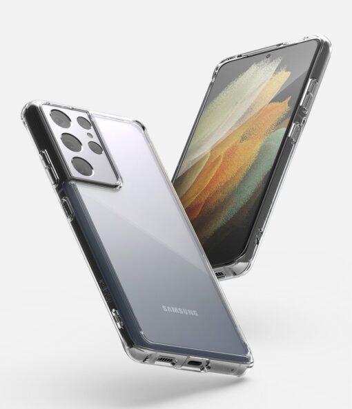 Samsung S21 Ultra silikoonist umbri labipaistev Ringke 5