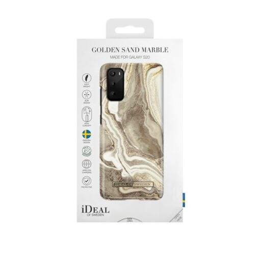 iDeal of Sweden Samsung S20 Golden Sand Marble umbris 1