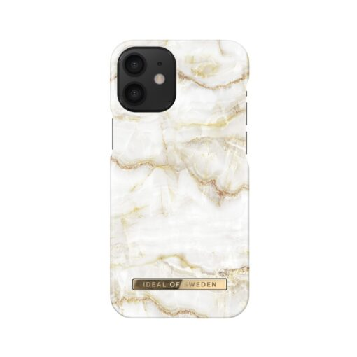 iDeal of Sweden for IPHONE 12 MINI Golden Pearl Marble umbris 1