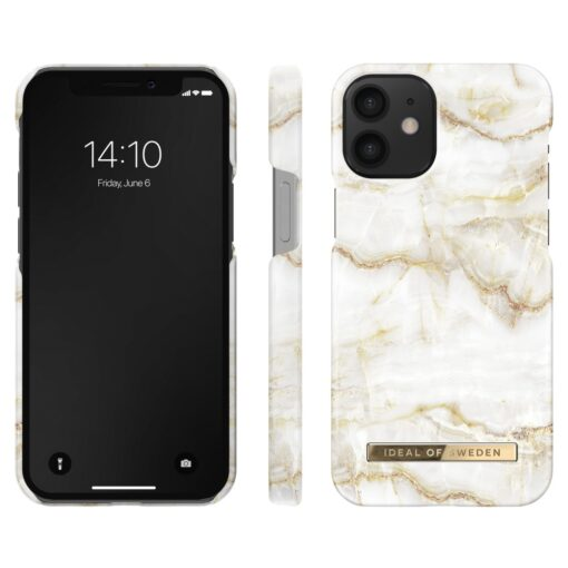 iDeal of Sweden for IPHONE 12 MINI Golden Pearl Marble umbris 2