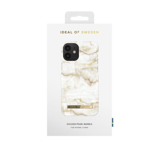 iDeal of Sweden for IPHONE 12 MINI Golden Pearl Marble umbris 3