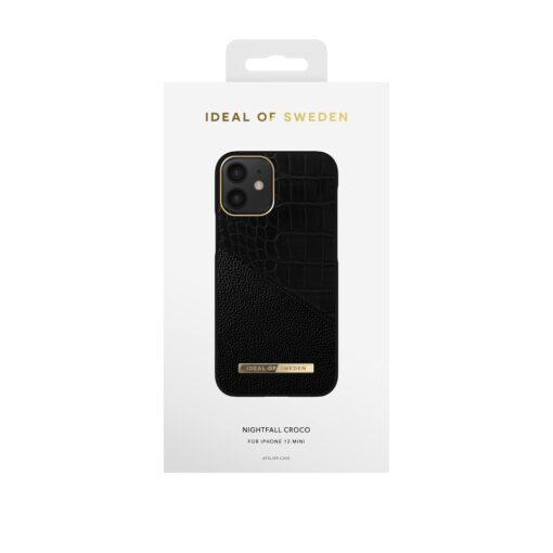 iDeal of Sweden for iPhone 12 MINI Nightfall Croco umbris 3