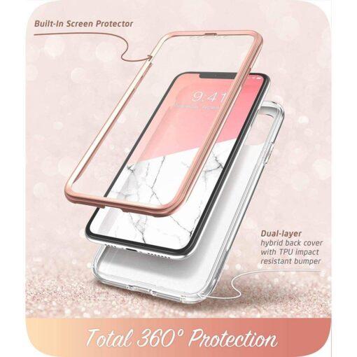 iPhone 11 umbris Supcase Cosmo silikoonist ja plastikust 360 roosa 1