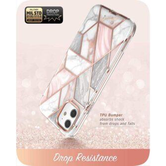 iPhone 11 umbris Supcase Cosmo silikoonist ja plastikust 360 roosa 3