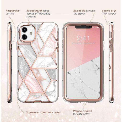 iPhone 11 umbris Supcase Cosmo silikoonist ja plastikust 360 roosa 5