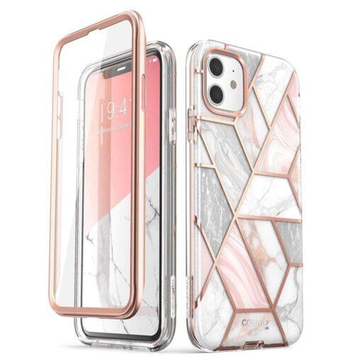 iPhone 11 umbris Supcase Cosmo silikoonist ja plastikust 360 roosa