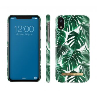 ideal fashion case apple iphone xr monstera jungle