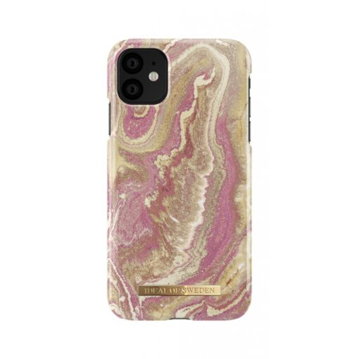 ideal of sweden apple iphone 11 golden blush marble 2