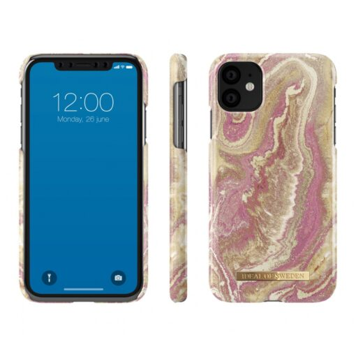 ideal of sweden apple iphone 11 golden blush marble