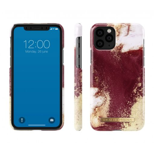 ideal of sweden apple iphone 11 pro golden burgundy marble