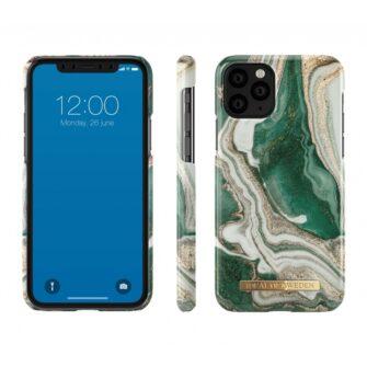 ideal of sweden apple iphone 11 pro golden jade marble