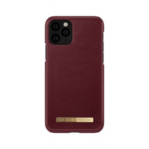 ideal of sweden apple iphone 11 pro saffiano burgundy 2