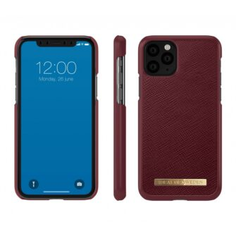 ideal of sweden apple iphone 11 pro saffiano burgundy