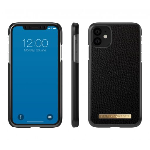 ideal of sweden apple iphone 11 saffiano black