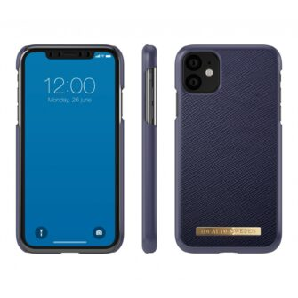 ideal of sweden apple iphone 11 saffiano navy