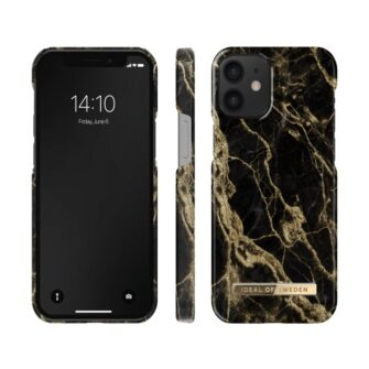 ideal of sweden apple iphone 12 mini golden smoke marble