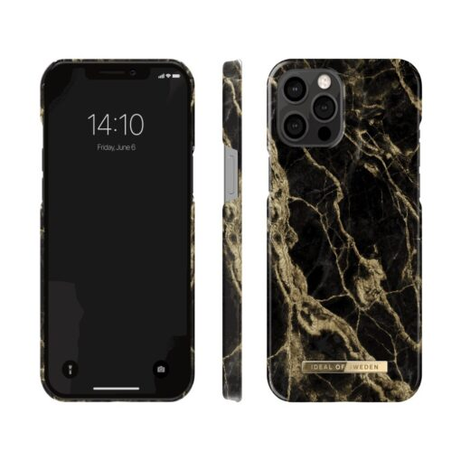 ideal of sweden apple iphone 12 pro max golden smoke marble
