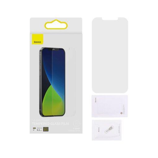2tk iPhone 12 12 Pro matt kaitseklaas 0.25 mm SGAPIPH61P LM02 11