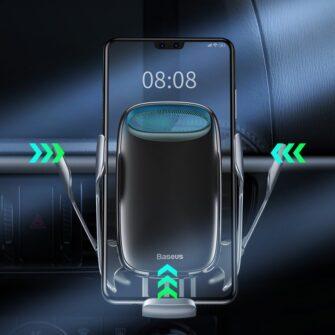 Baseus Milky Way 15W juhtmevaba laadimisega telefonihoidik WXHW02 01 must 13