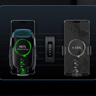 Baseus Milky Way 15W juhtmevaba laadimisega telefonihoidik WXHW02 0S hobe 15