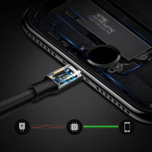 Baseus Rapid 2in1 juhe lightning ja micro USB 3A 1.2m CAML SU01 must 4