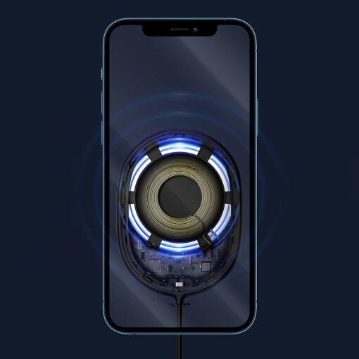 Baseus magnetiga juhtmevaba Qi laadija 15 W MagSafe compatible mustWXQJ 01 12