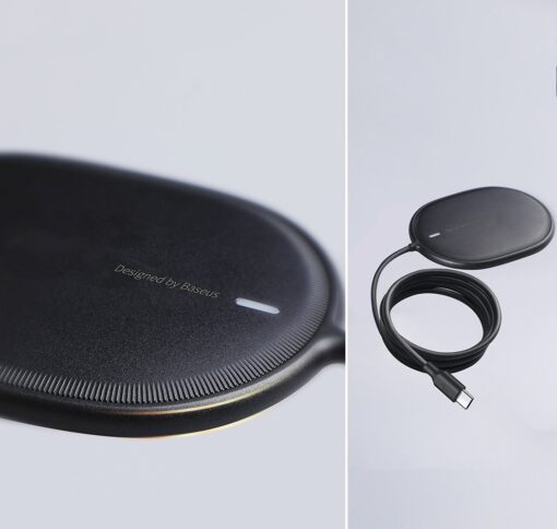 Baseus magnetiga juhtmevaba Qi laadija 15 W MagSafe compatible mustWXQJ 01 17