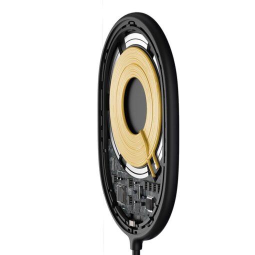 Baseus magnetiga juhtmevaba Qi laadija 15 W MagSafe compatible mustWXQJ 01 3