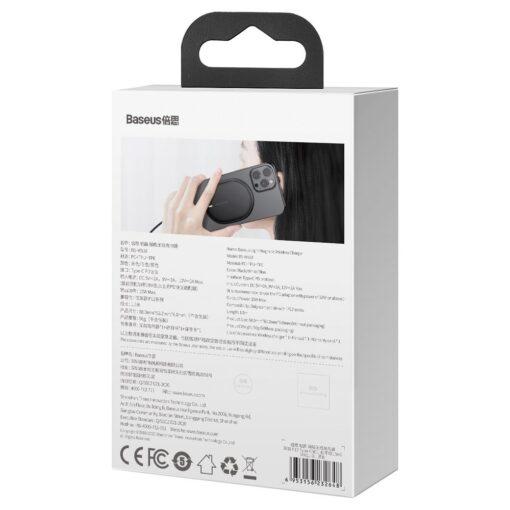 Baseus magnetiga juhtmevaba Qi laadija 15 W MagSafe compatible mustWXQJ 01 5