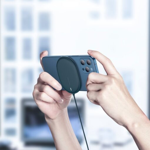 Baseus magnetiga juhtmevaba Qi laadija 15 W MagSafe compatible sinine WXQJ 03 10