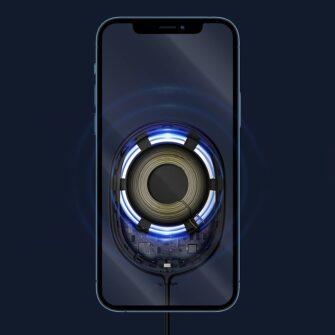 Baseus magnetiga juhtmevaba Qi laadija 15 W MagSafe compatible sinine WXQJ 03 12
