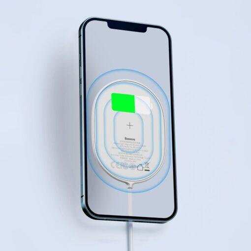 Baseus magnetiga juhtmevaba Qi laadija 15 W MagSafe compatible sinine WXQJ 03 15