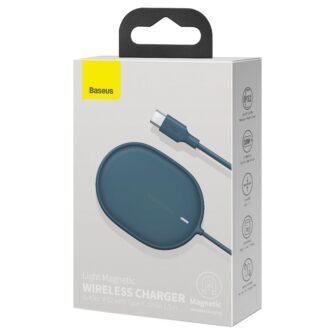 Baseus magnetiga juhtmevaba Qi laadija 15 W MagSafe compatible sinine WXQJ 03 4