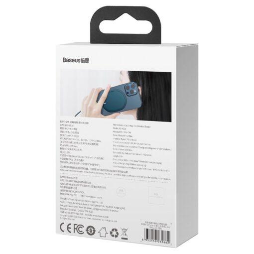 Baseus magnetiga juhtmevaba Qi laadija 15 W MagSafe compatible sinine WXQJ 03 5