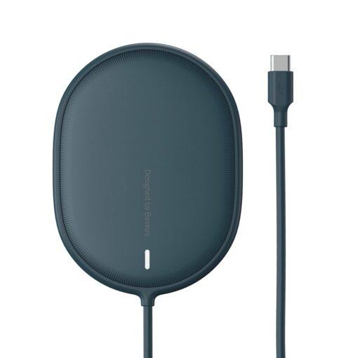 Baseus magnetiga juhtmevaba Qi laadija 15 W MagSafe compatible sinine WXQJ 03