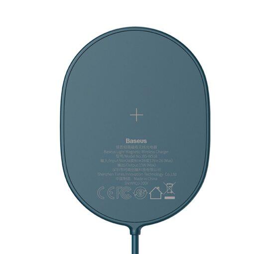 Baseus magnetiga juhtmevaba Qi laadija 15 W MagSafe compatible sinine WXQJ 03 6