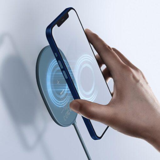 Baseus magnetiga juhtmevaba Qi laadija 15 W MagSafe compatible sinine WXQJ 03 8